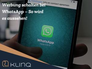 Werbung schalten bei WhatsApp. So wird es aussehen.